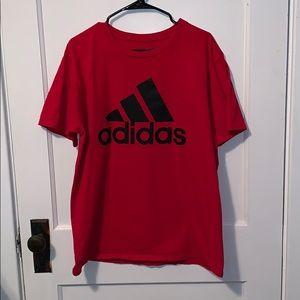 Large Red Adidas T-Shirt